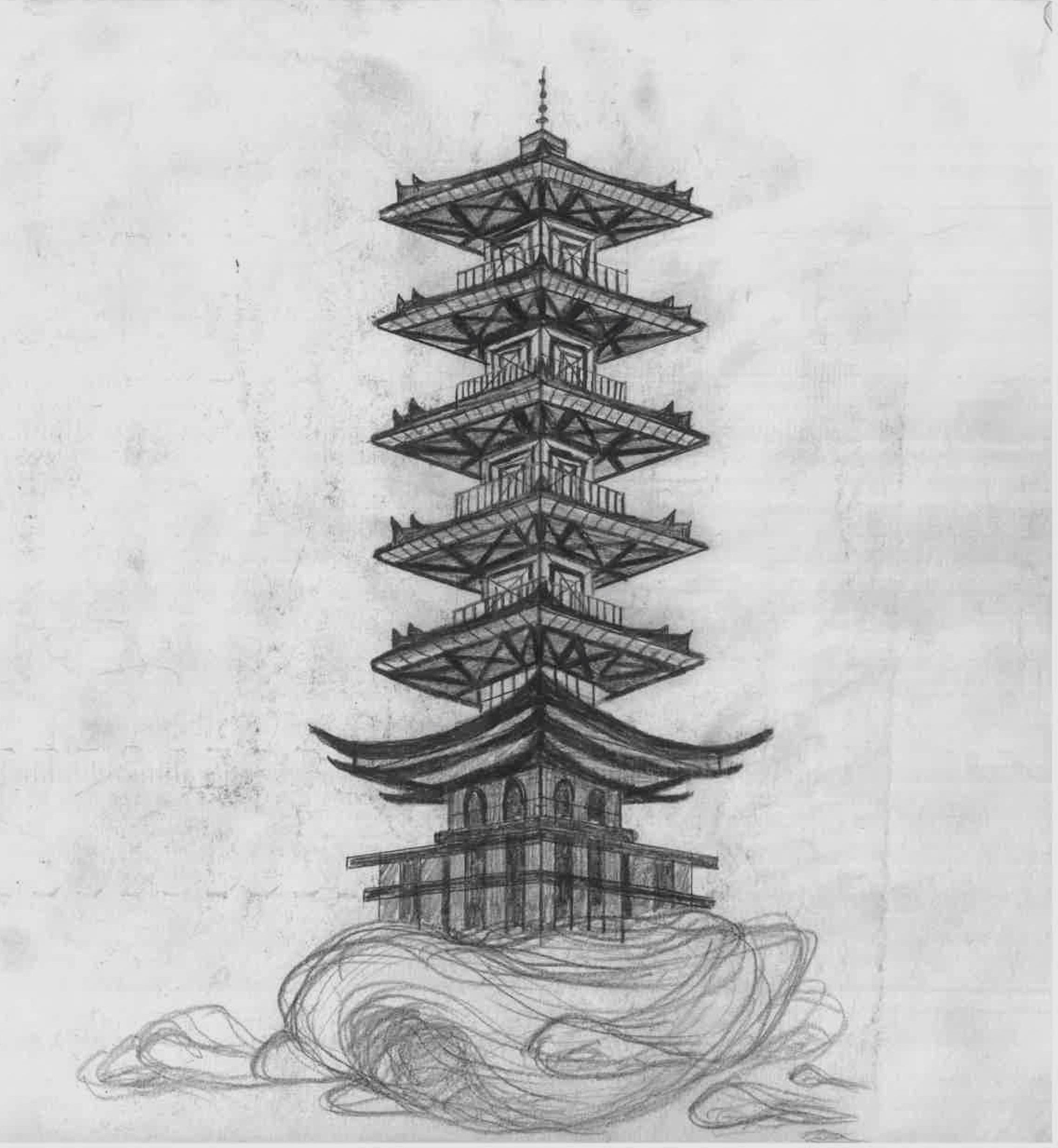 Pagoda in Air. 2018