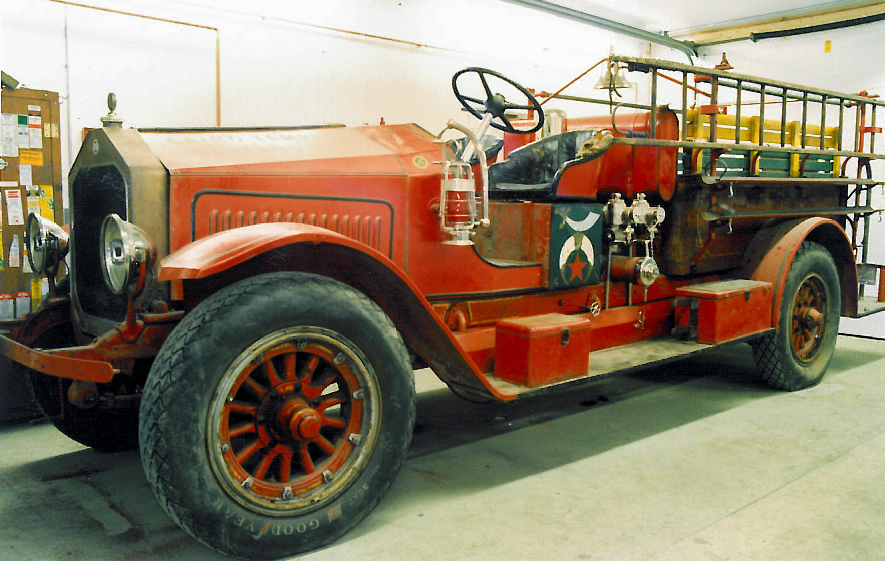 The 1923 Maxim was in poor condition when we found it in Rutland retired from parade use by the Shriners.