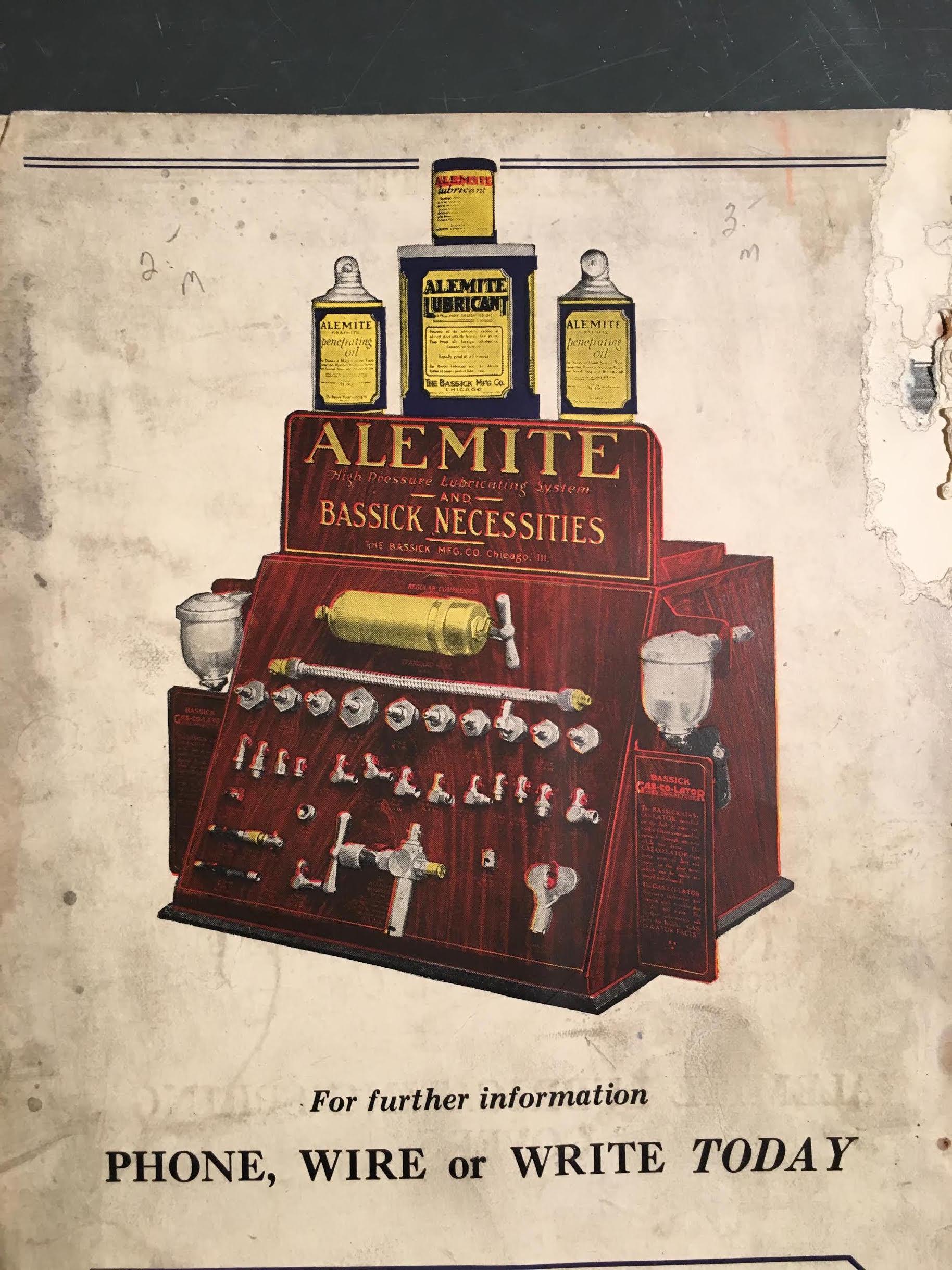 Alemite 1930's display