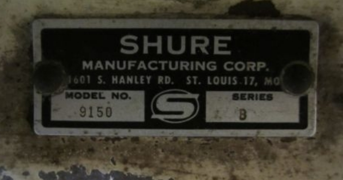 Shure ID plate for stand-alone bench