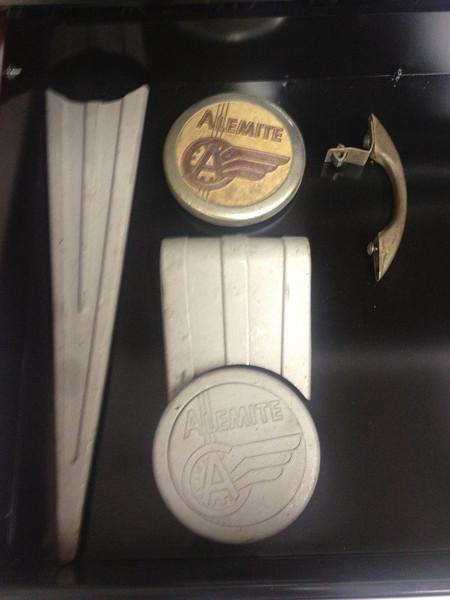 Alemite pump trim and emblems