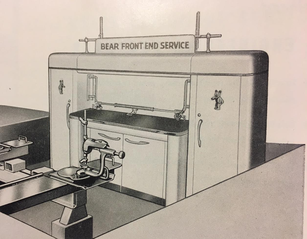 Bear Catalog Bench ad 1954