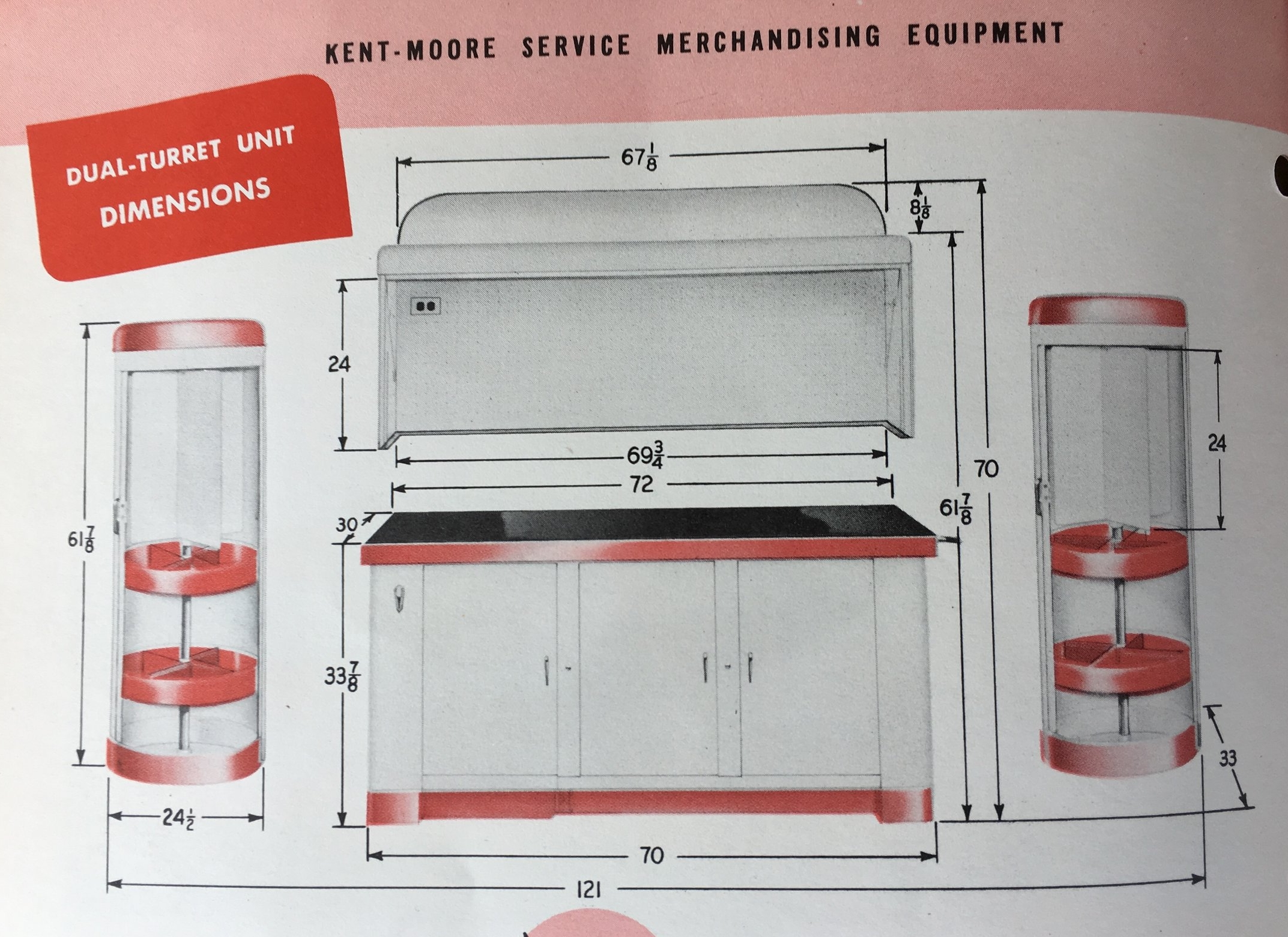 Kent-Moore Turret Dimensions