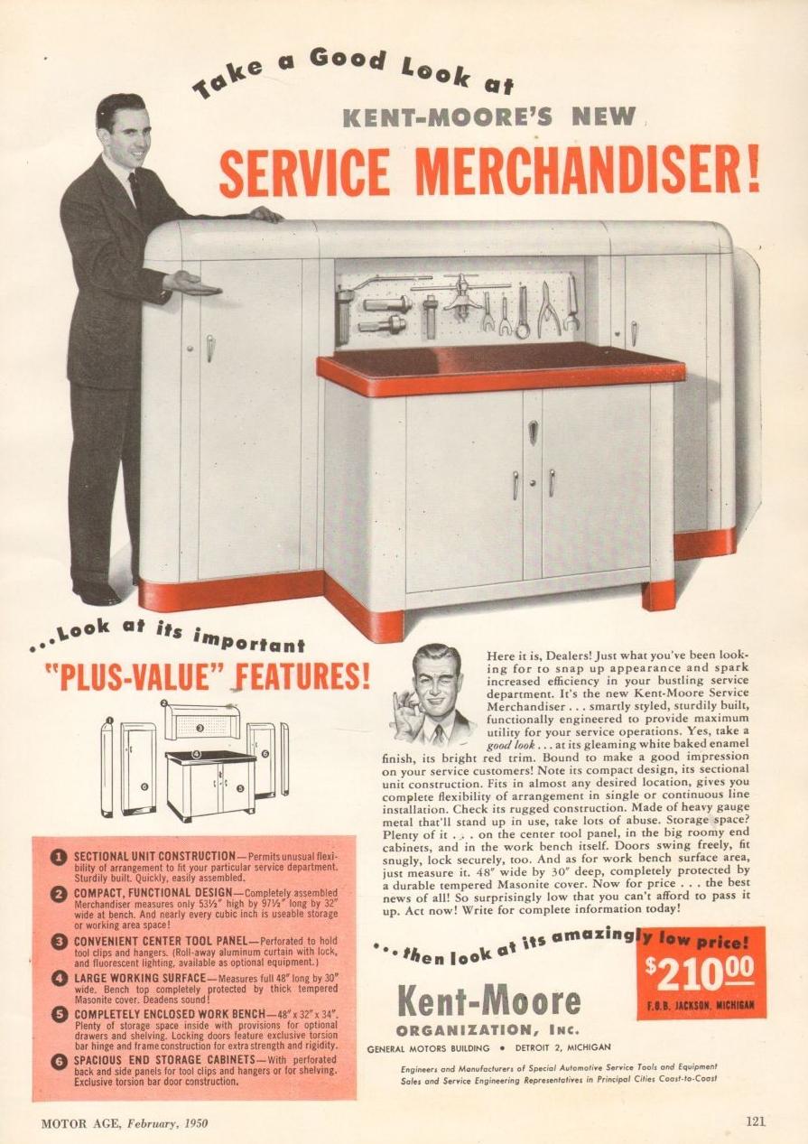 Service Merchandiser Ad 1950