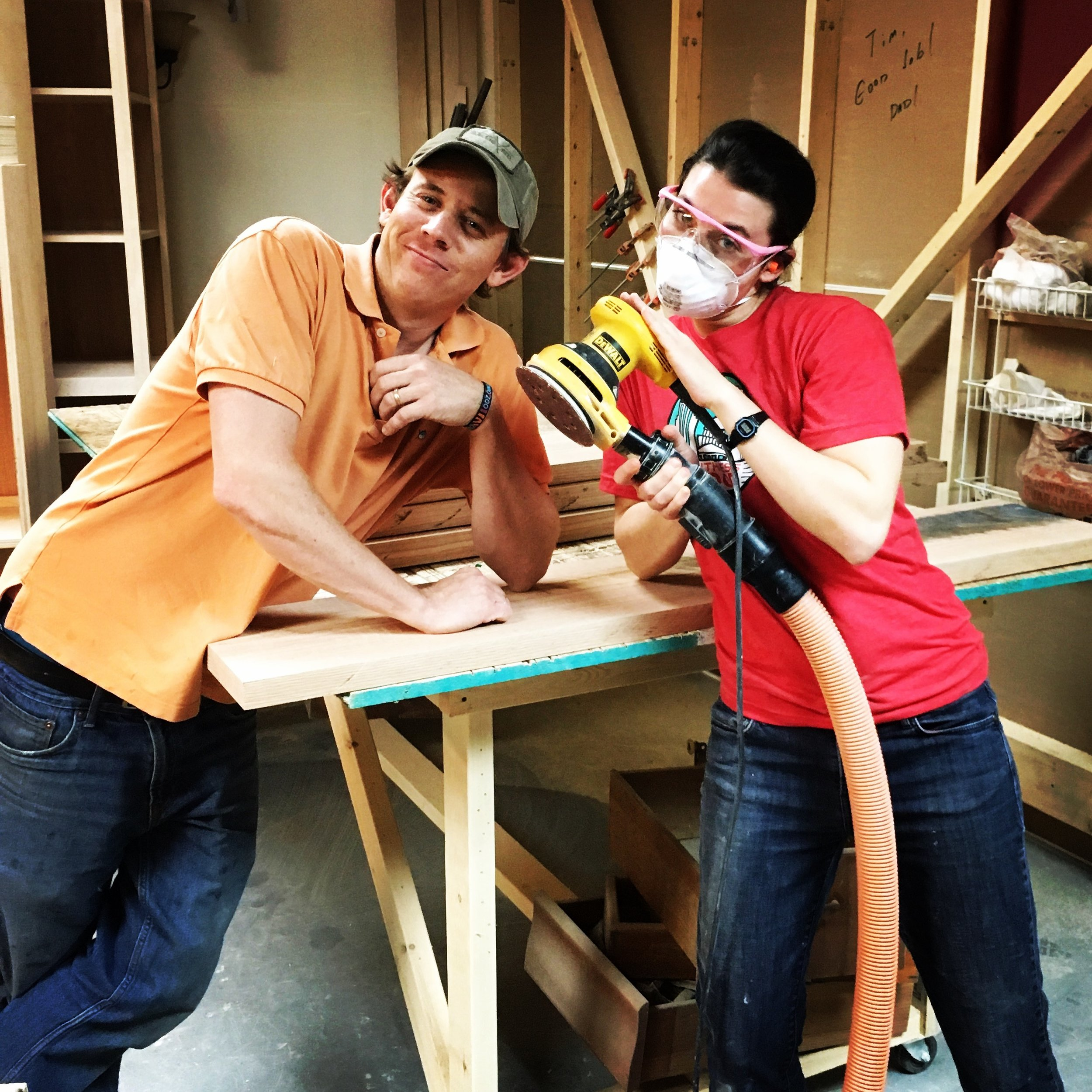 making cabinets=endless sanding