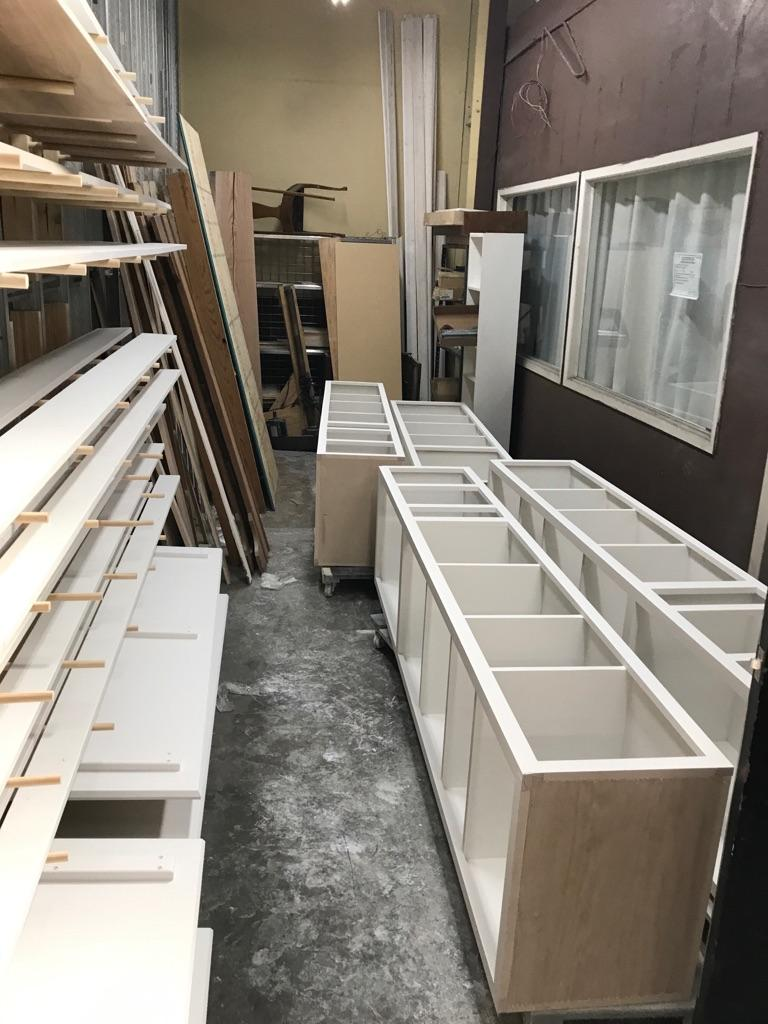 cabinets going to a King William neighborhood apartment