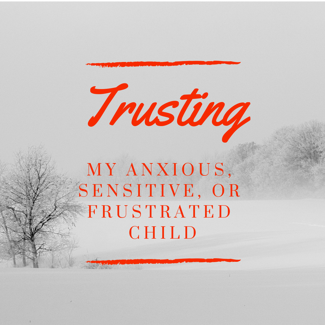 parenting my anxious, sensitive or frustrated chid