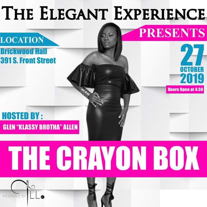 "Date And Time  Sun, October 27, 2019  5:00 PM – 11:00 PM  The Elegant Experience invites you to witness one of the hottest Fashion Show to take place in Memphis, TN. Come join us as we showcase Designers in an experience you won't forget. And to top off this amazing night we will have a special segment to celebrate Down Syndrome Awarness through Fashon. This showstopping event will be held on Sunday, October 27, 2019 at Brickwood Hall hosted by Glen ""Klassy Brotha"" Allen. Doors open at 4:30 for cocktails and shopping.  This year you will get to experience Memphis Designers Tasha Love (TLL Brand), Christina Westbrook (Royalty), Myron Cummings (Designer Miron), Novel King (Novel Unique), Tierra Richardson (Shunni's Creations), Jennifer Williams (JSashay), Autumn Jordan (VJ Couture) of New York, Gine'a Brown (Fearful and Wonderful Designs) of Florida, and a native of Memphis Cherika Hart-Ratchford (Designs By Estell)  VIP Tickets Purchase Includes full access to the VIP Room with unlimited wine and food! Also during the show a glass of wine will be served before each Designer present their Collection.   https://www.eventbrite.com/e/the-elegant-experience-presents-the-crayon-box-tickets-69385857969?aff=ebdssbdestsearch"