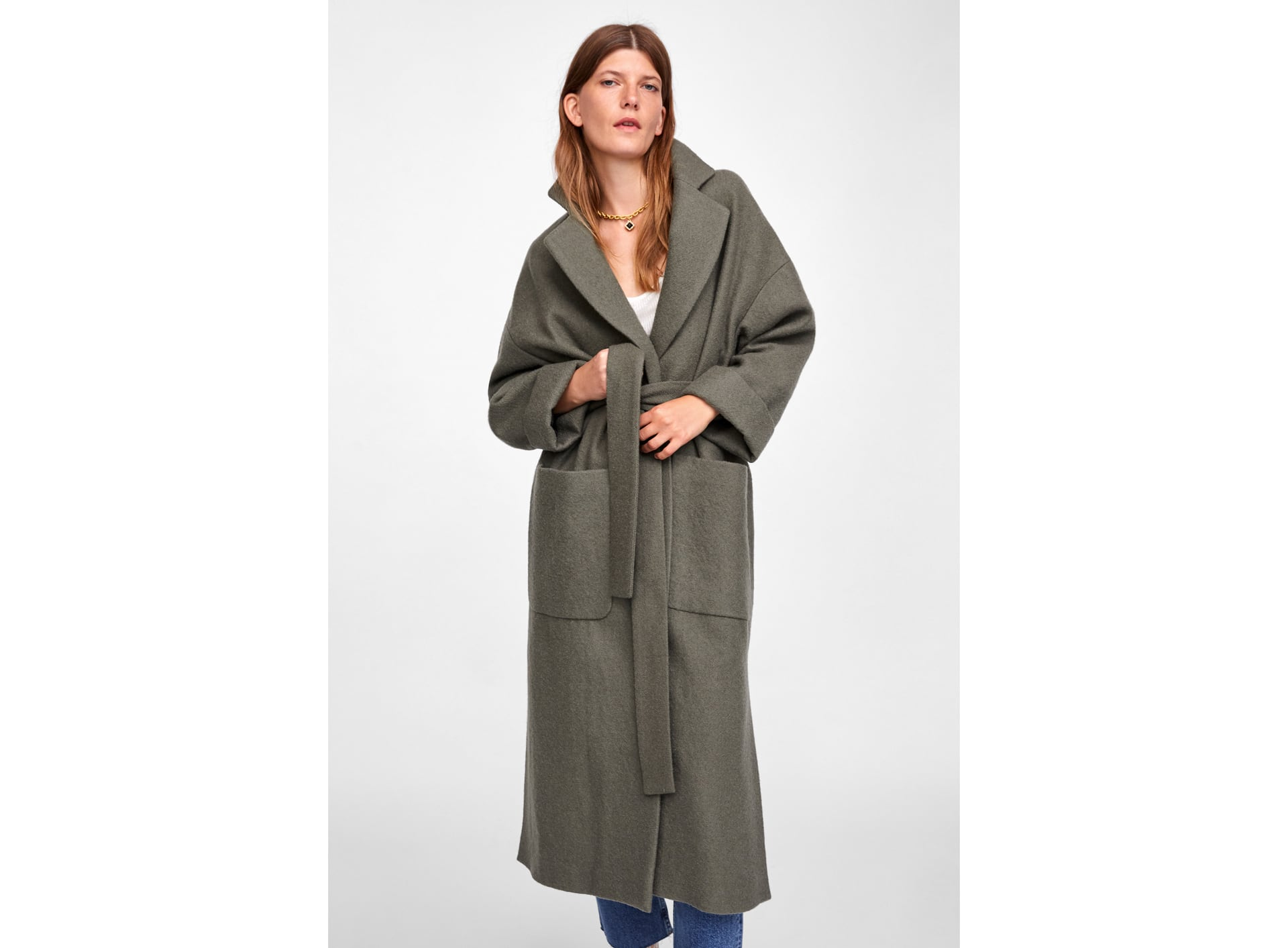 This coat is by Zara and you can buy it    here   .