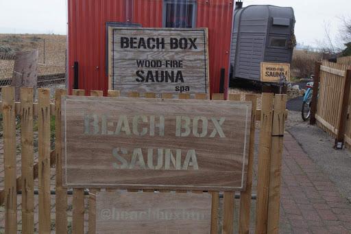 Brighton beach box is a horse trailer converted into a sauna. Photo by Saara-Maria Salonen