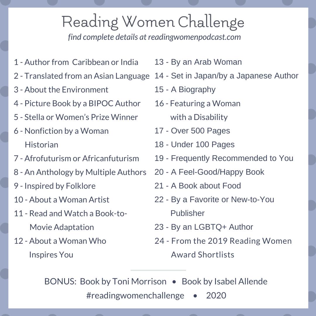 2020 Reading Challenge List.2020 Challenge Reading Women