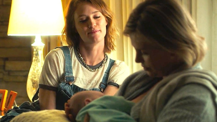 Charlize Theron and Mackenzie Davis in  Tully.