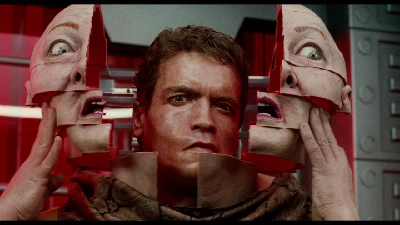 Schwarzenegger in  Total Recall' s most insane moment.