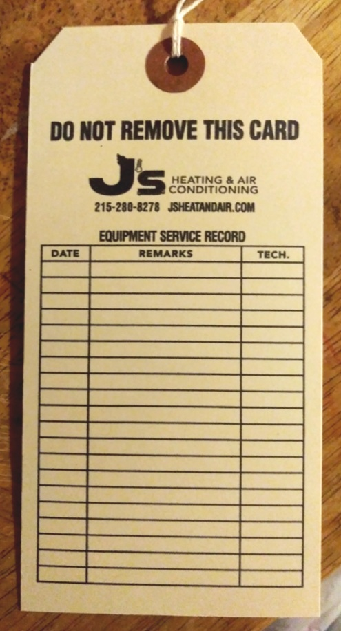 J's Machinery Tag