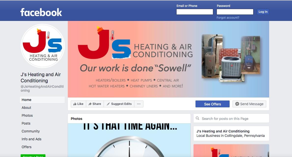 J's on Facebook