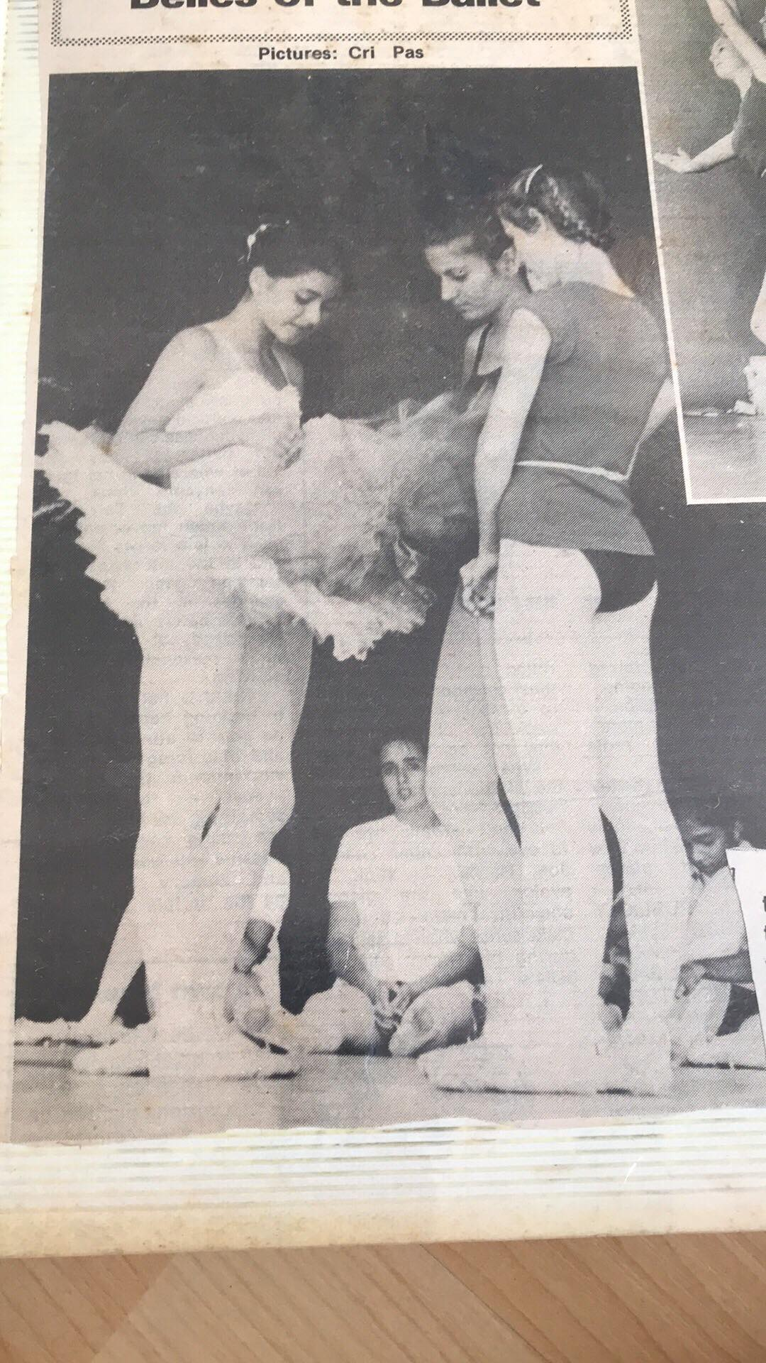 Nicole, Joelle and Holly at a ballet clinic with Anne Jenner