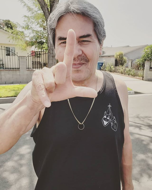 My grandpa stole an unreleased smile now cry later tank from the workshop. 🎭 He wears it well! #loser #comeup #sadgirlporvida #smilenowcrylater #summertimevibes