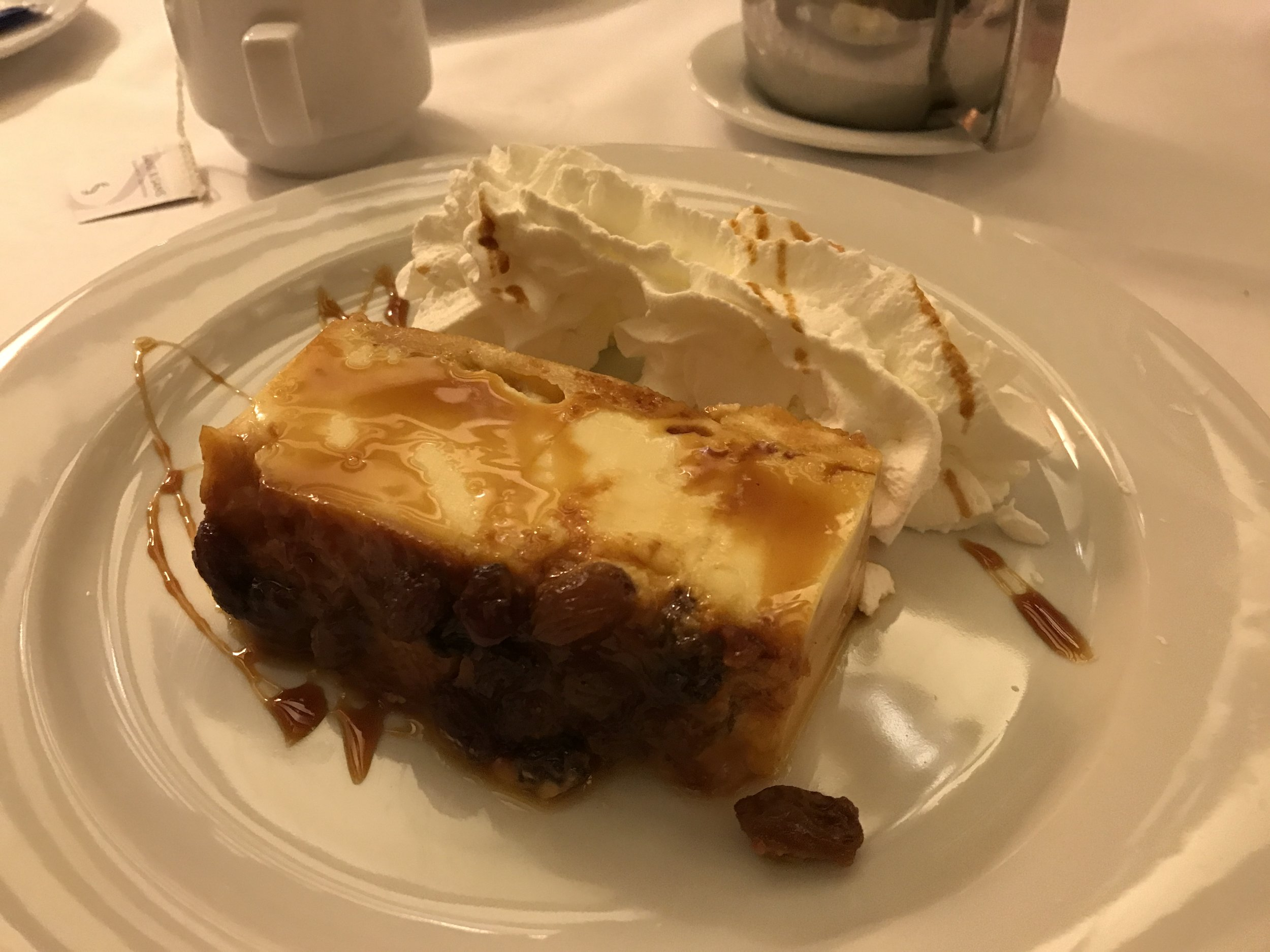 Finished the meal with  Puding de melindros