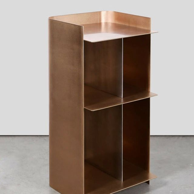 Love the simplicity, gorgeous materiality, and restrained beauty of this bronze and zinc drink cabinet by Marcin Rusak 👀 Found at @thefutureperfect #contemporarydesign #interiordesign #happyhour
