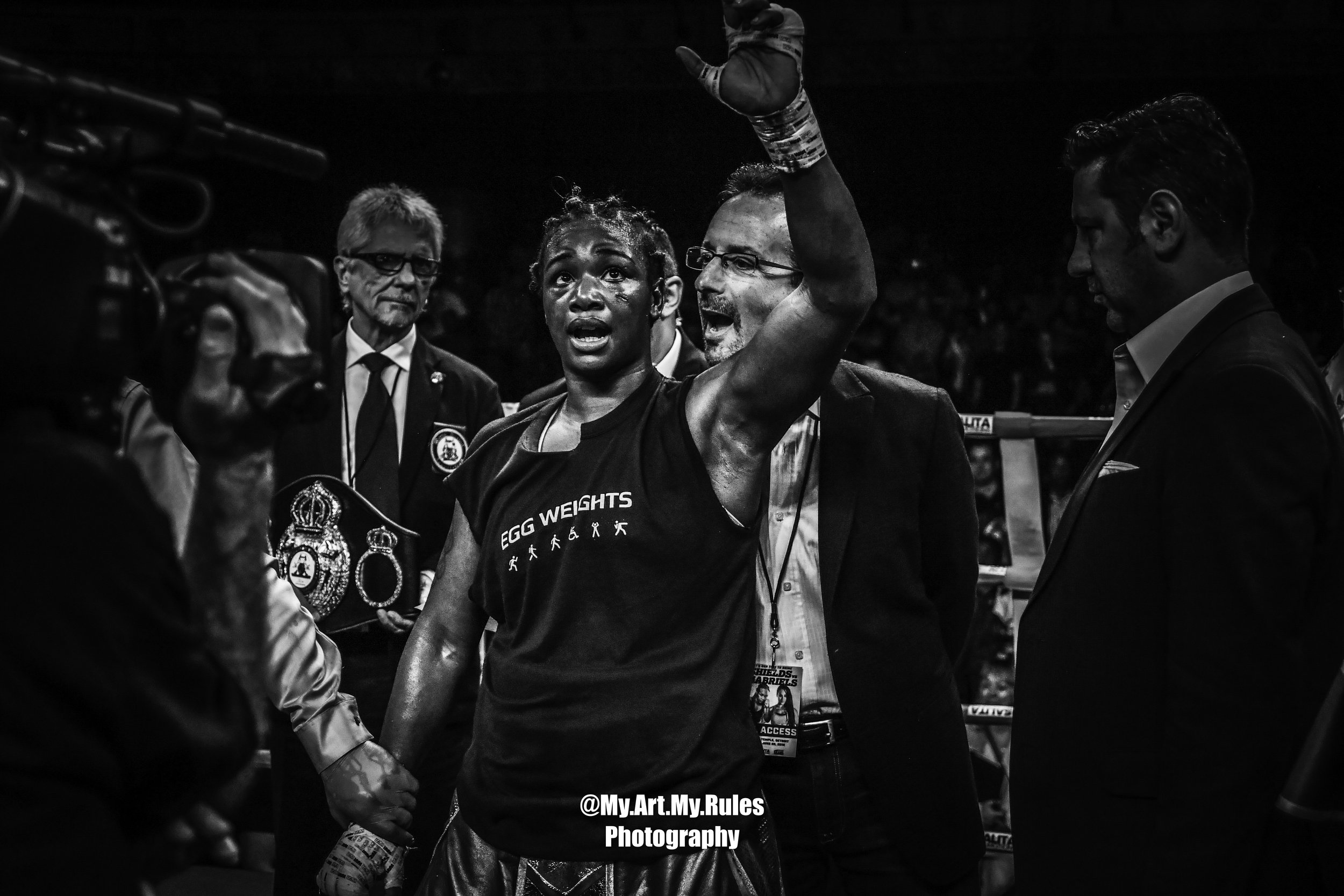 Claressa Shields Wins By Unanimous Decison Over Hanna Gabriels -