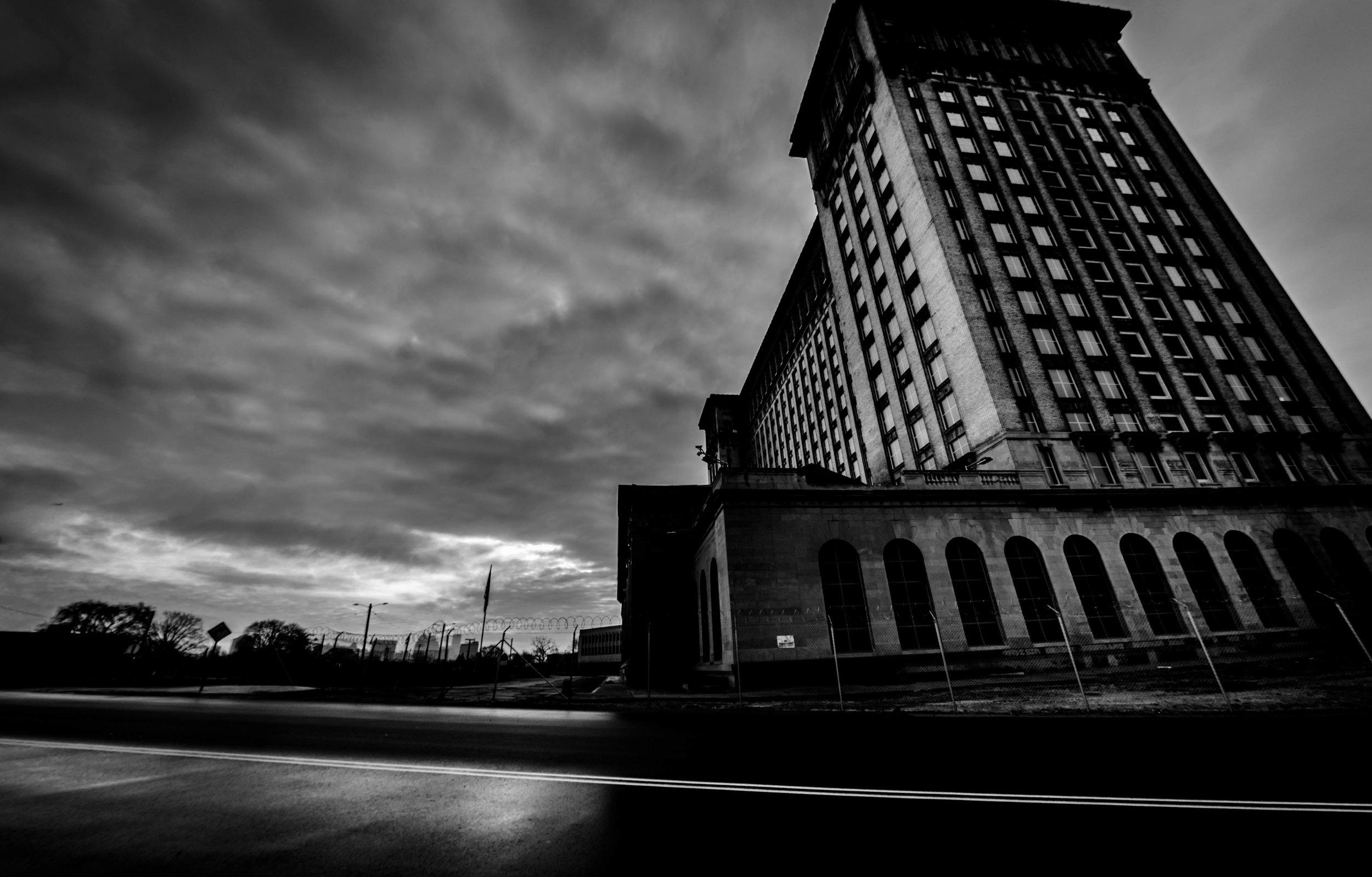 Historical Landmark In Detroit     Train Station