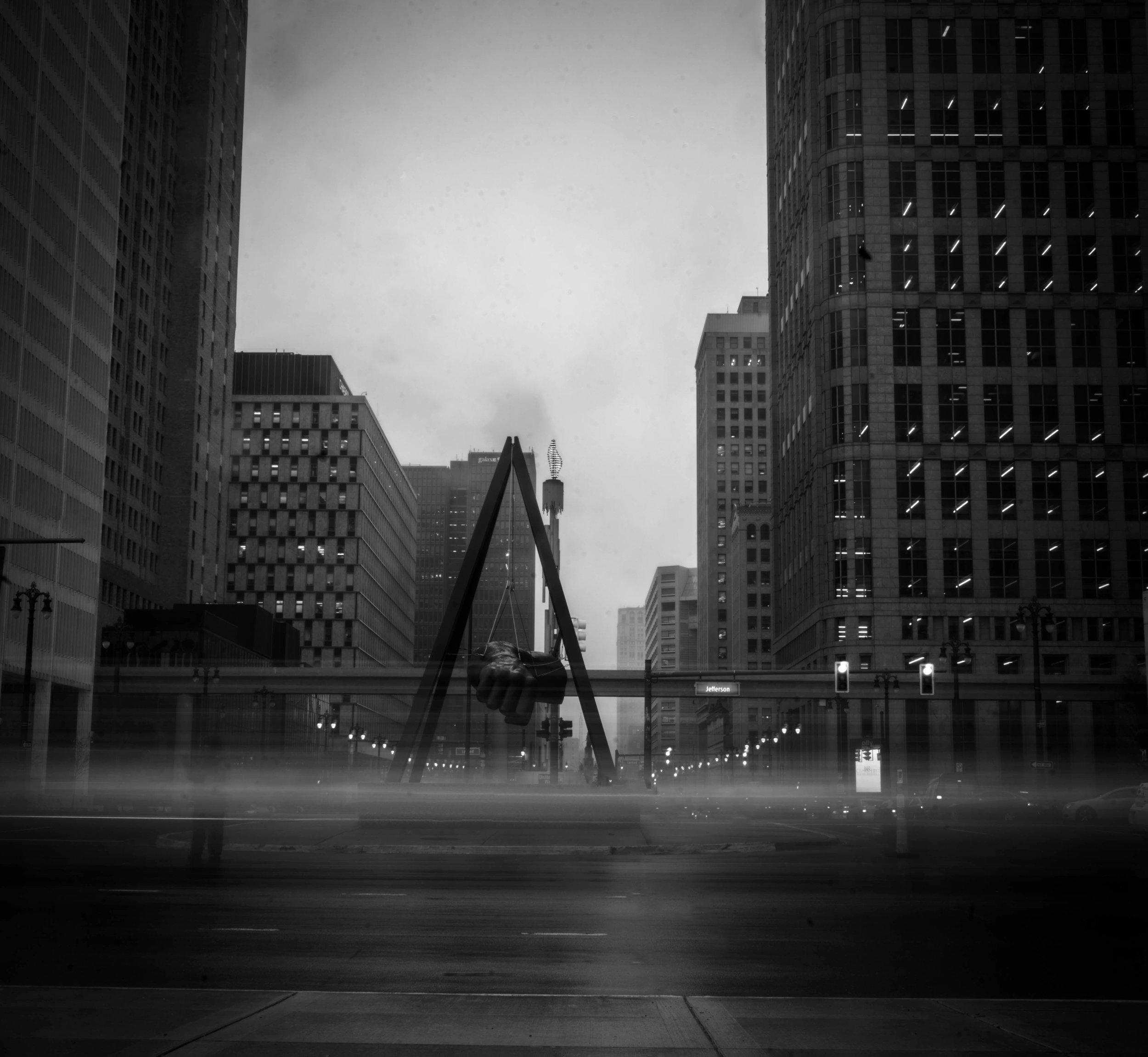 Joe Louis Fist Downtown Detroit