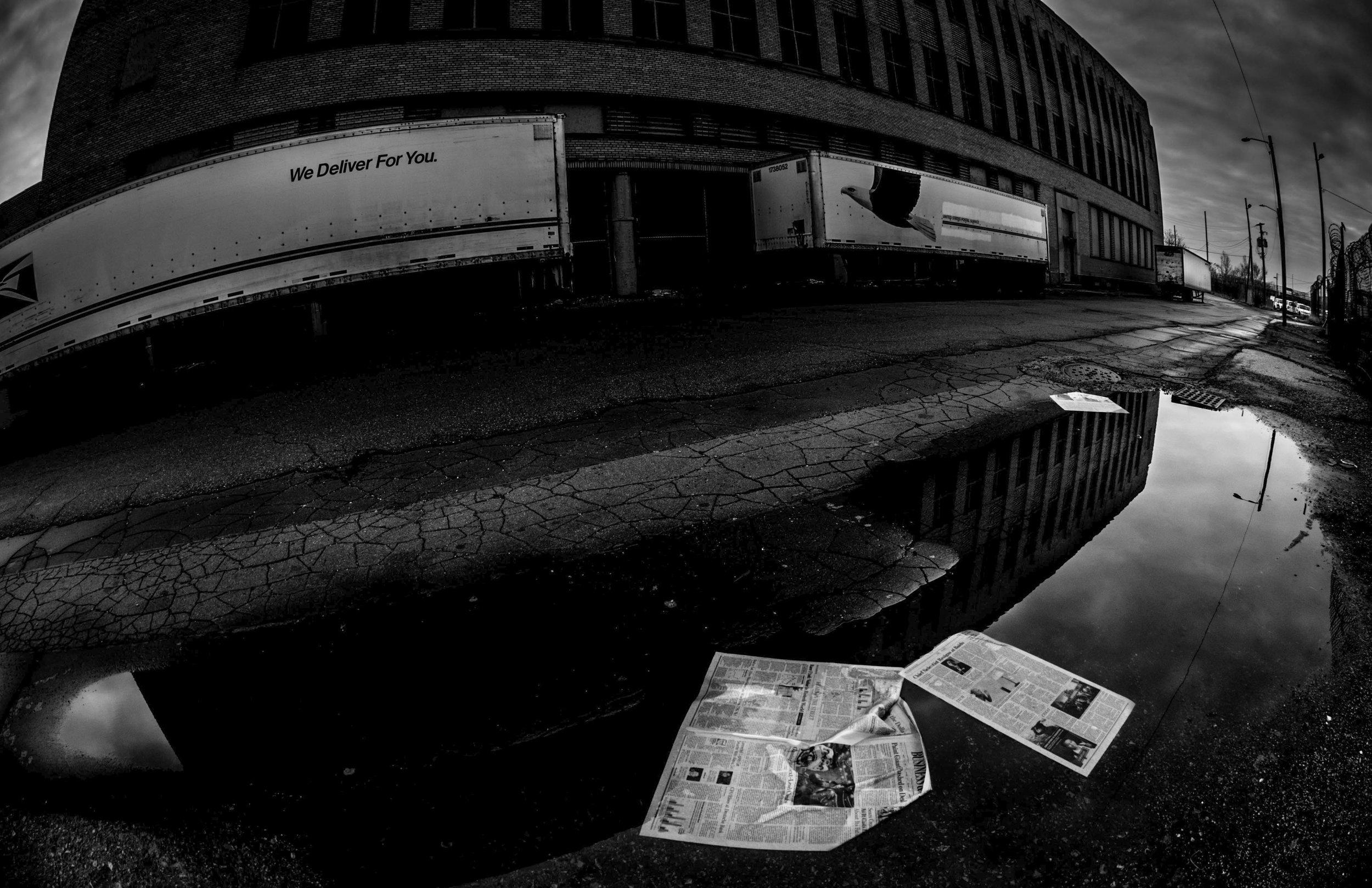 Side Street In Corktown Detroit