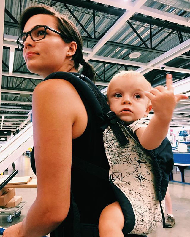 ikea with my suddenly-pointing-at-everything boy. first backwear in my tula! (and finally in an air-conditioned place where babywearing is not unthinkable).