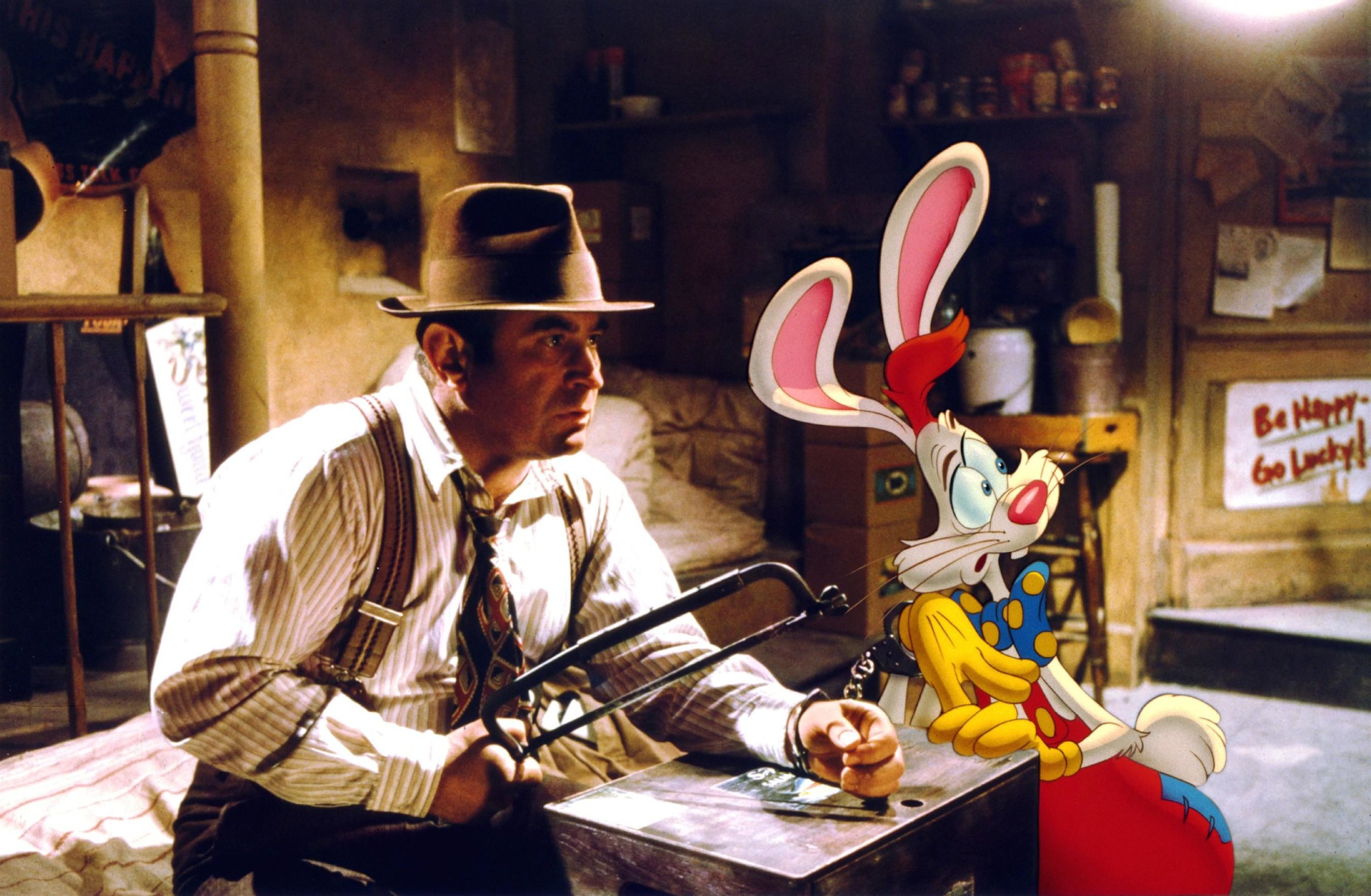Chain Gang: Bob Hoskins' Eddie and his colourful client in Netflix's  Who Framed Roger Rabbit
