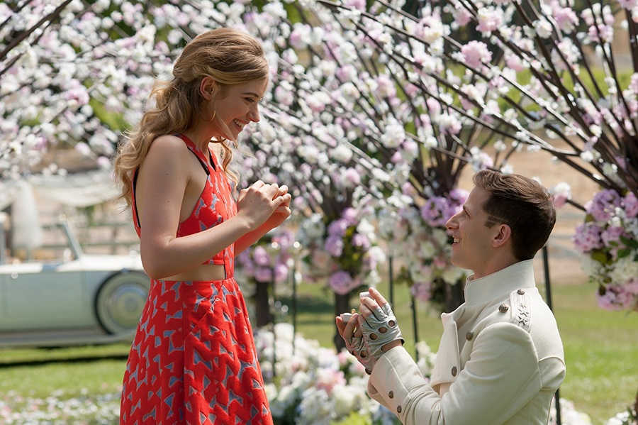 Put a Ring on it: Imogen Poots (Ashley) and Andy Samberg (Conner) in Netflix's  Popstar: Never Stop Never Stopping