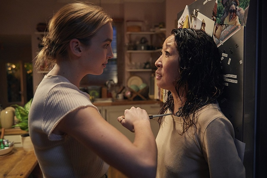 Kitchen Confidential: Jodie Comer (Villanelle) and Sandra Oh (Eve) in  Killing Eve