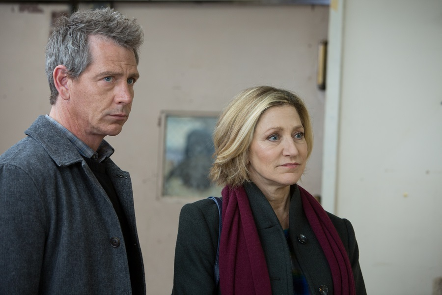 Cost Analysis: Ben Mendelsohn (Anders) and Edie Falco (Helene) in  The Land of Steady Habits