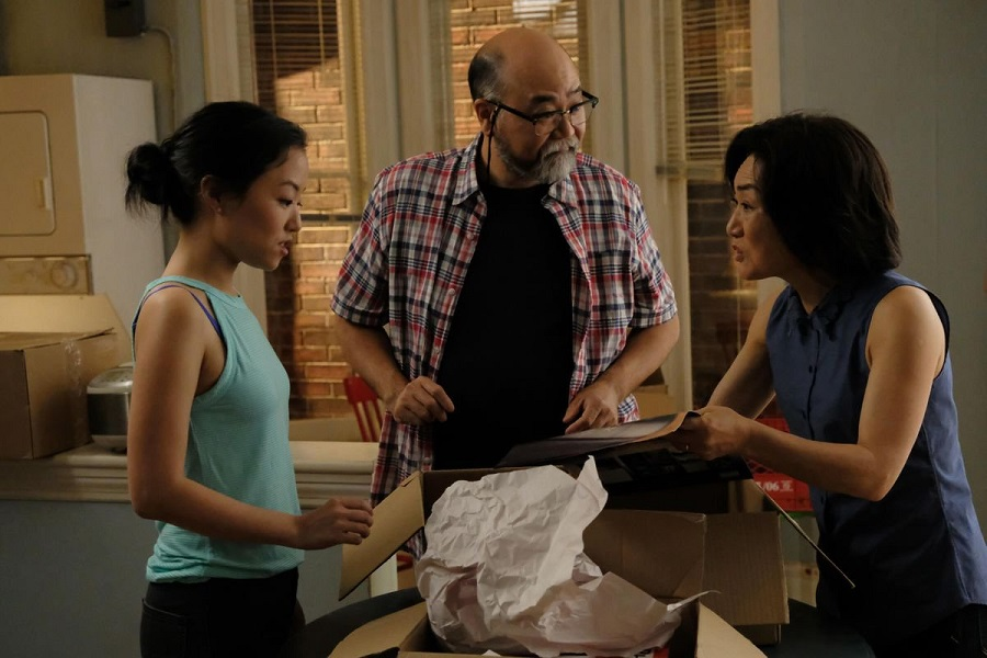 Boxed In: Andrea Bang (Janet), Paul Sun-Hyung Lee (Appa), and Jean Yoon (Umma) in  Kim's Convenience