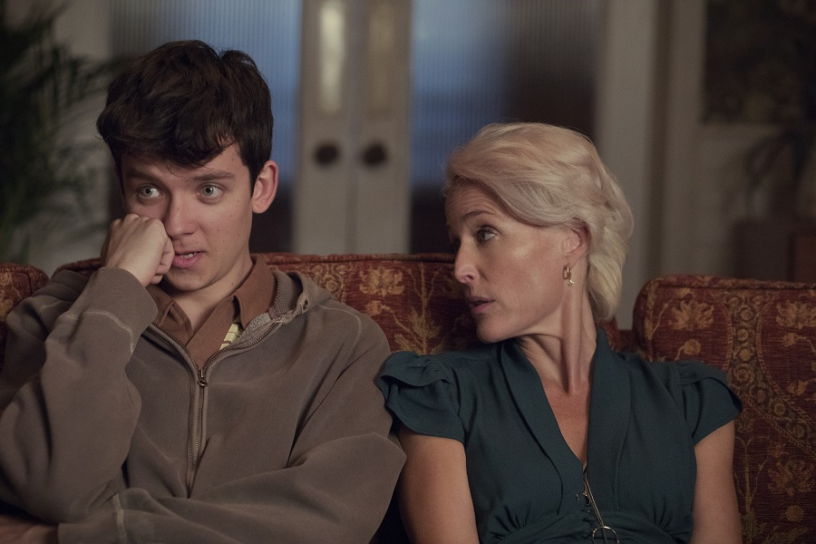 Mother Knows Best: Asa Butterfield (Otis) and Gillian Anderson (Jean) in  Sex Education