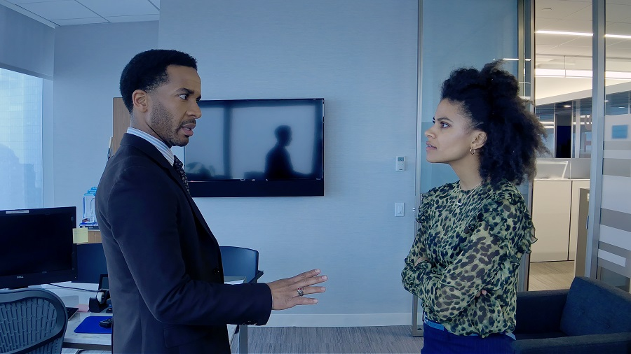 Point Guard: Andre Holland (Ray) and Zazie Beetz (Sam) in  High Flying Bird