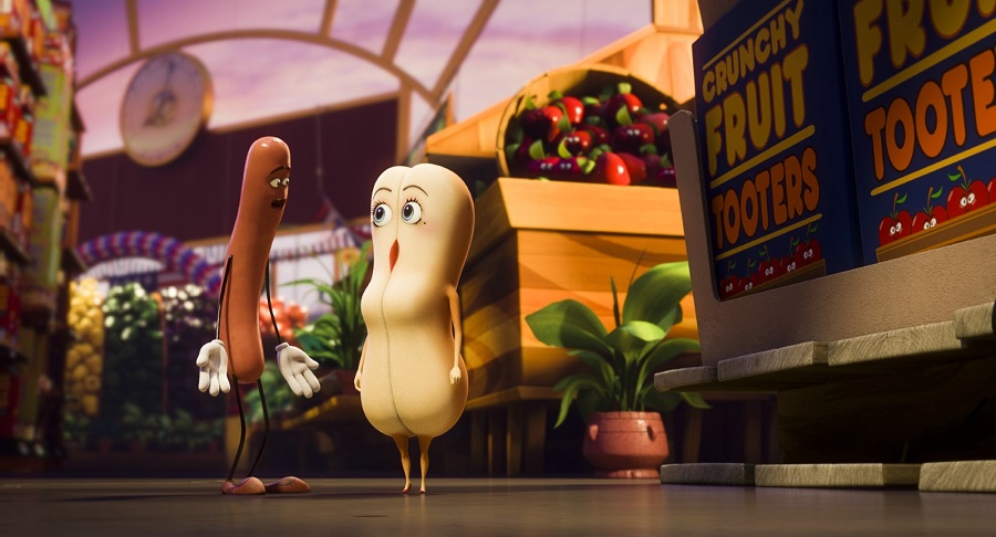 Price Check: Frank (voiced by Seth Rogen) and Brenda (Kristen Wiig) in  Sausage Party