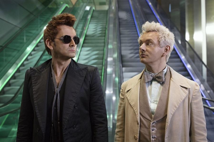 High Spirits: David Tennant (Crowley) and Michael Sheen (Aziraphale) in  Good Omens