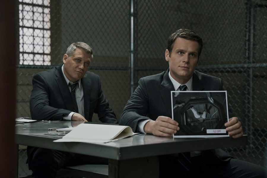 The Searchers: Holt McCallany (Bill) and Jonathan Groff (Holden) in  Mindhunter