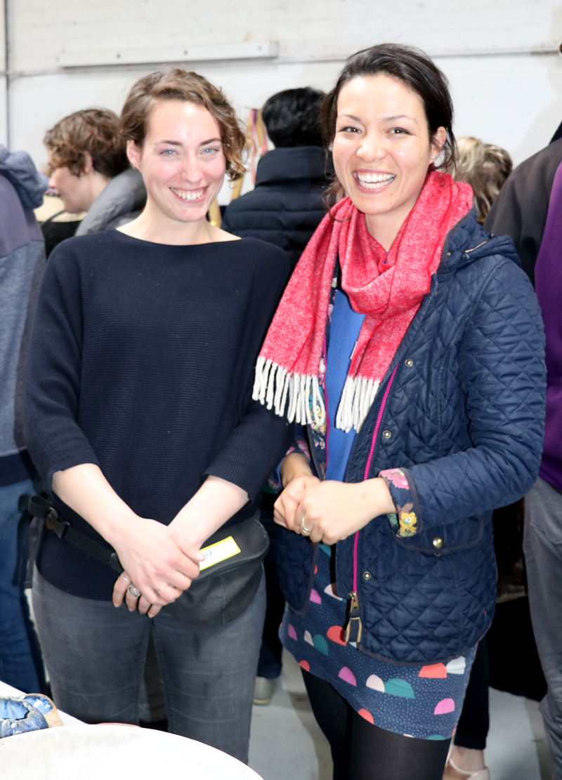 Tina Thorburn (L) and Daisy Cooper (R), the creators, curators and coordinators of Melbourne Ceramic Market. Photo: Annette Wagner.