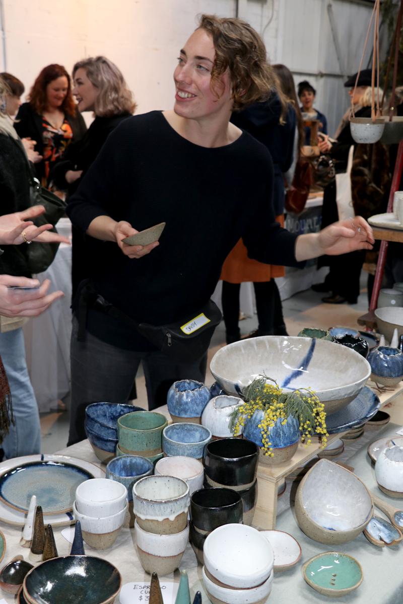 Tina Thorburn, at August 2017 Melbourne Ceramic Market. Photo: Annette Wagner