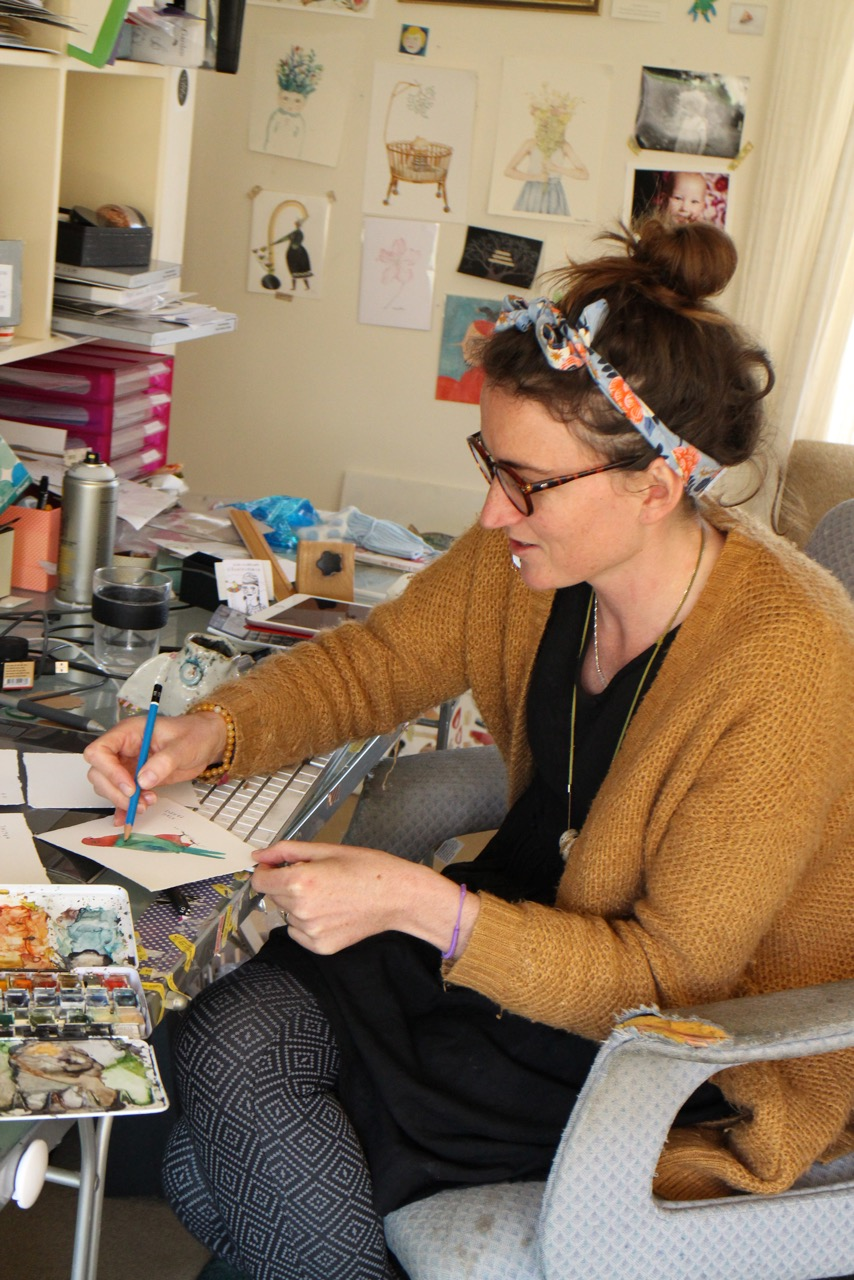 Jess at work in her studio.