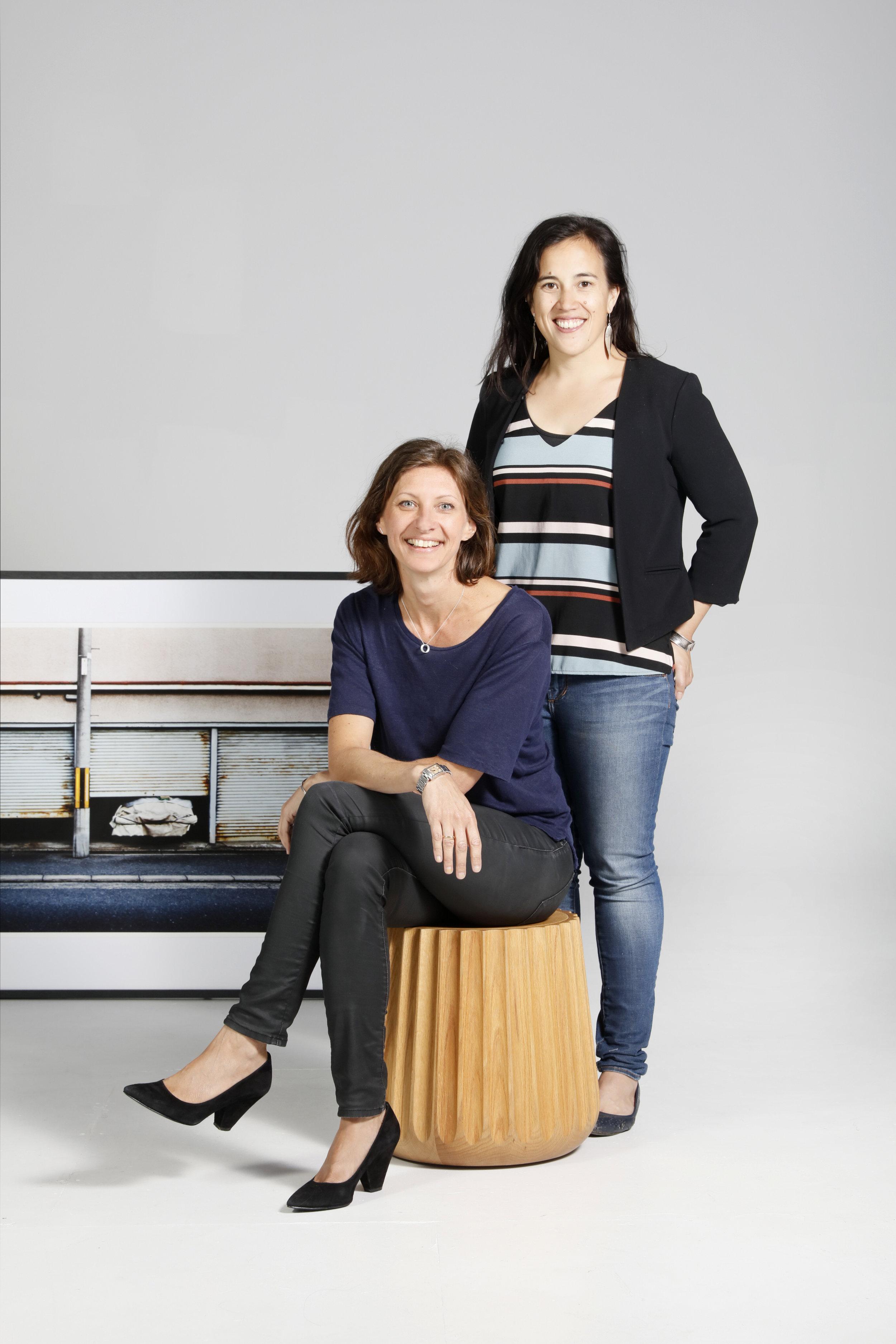 Anne-Claire Petre and Elizabeth Bull. Photo: Elizabeth Bull.