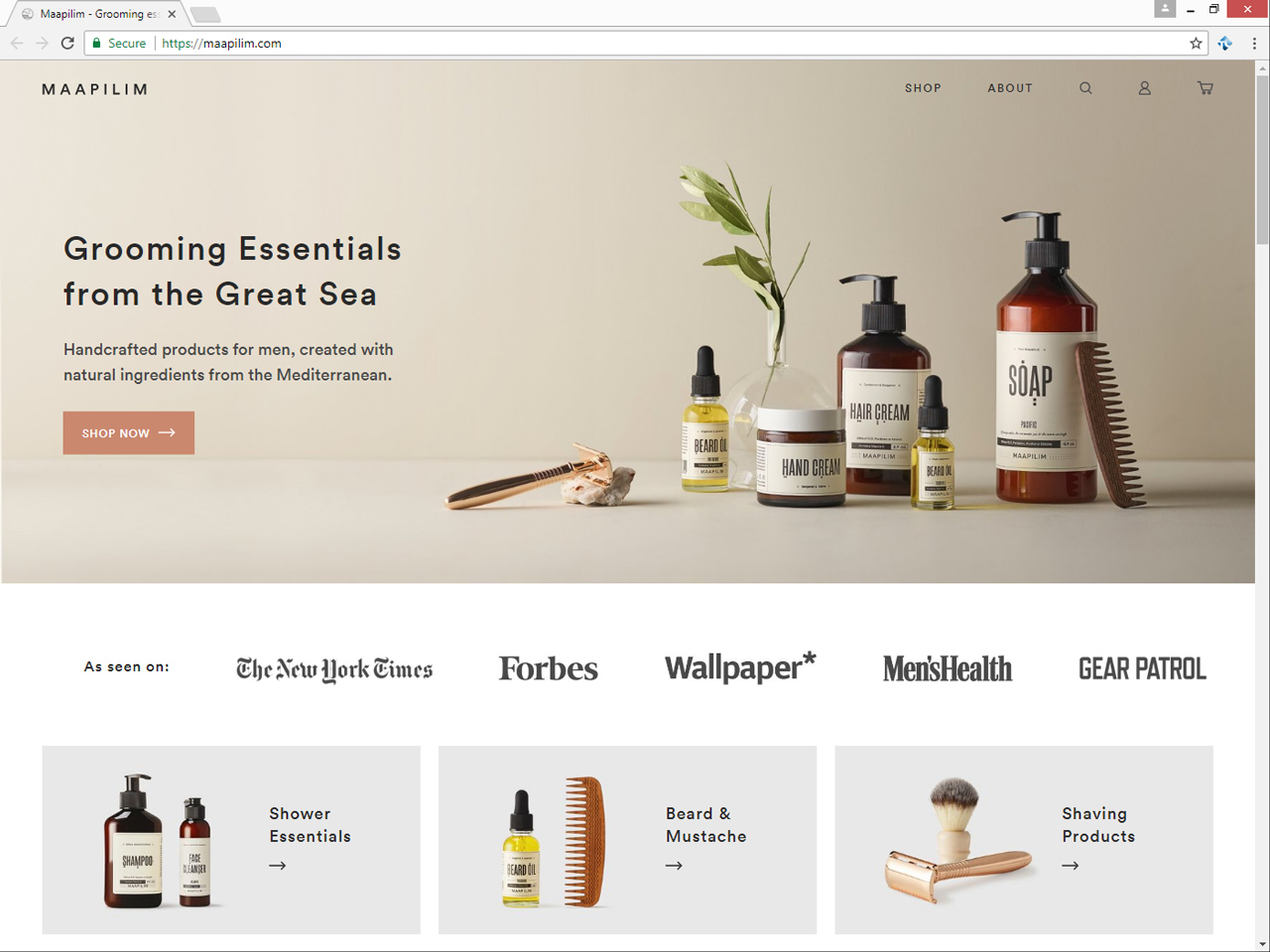 Shopify website for    Maapilim   , created by    TVP NYC