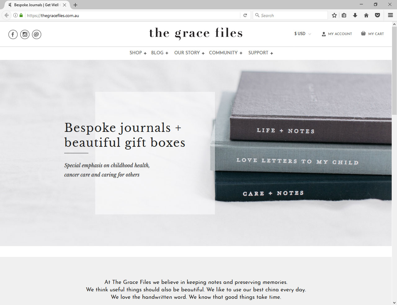 Wordpress website for    the Grace Files   , created by    Studio Manusha