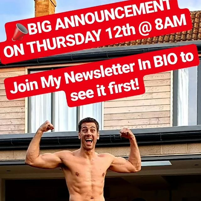 NEWSLETTER LINK IN BIO | Don't Miss It⚠️ . . . . . #gerhardboshofffitness #fitness #announcement #dontmissout #itshuge #coaching . . . .