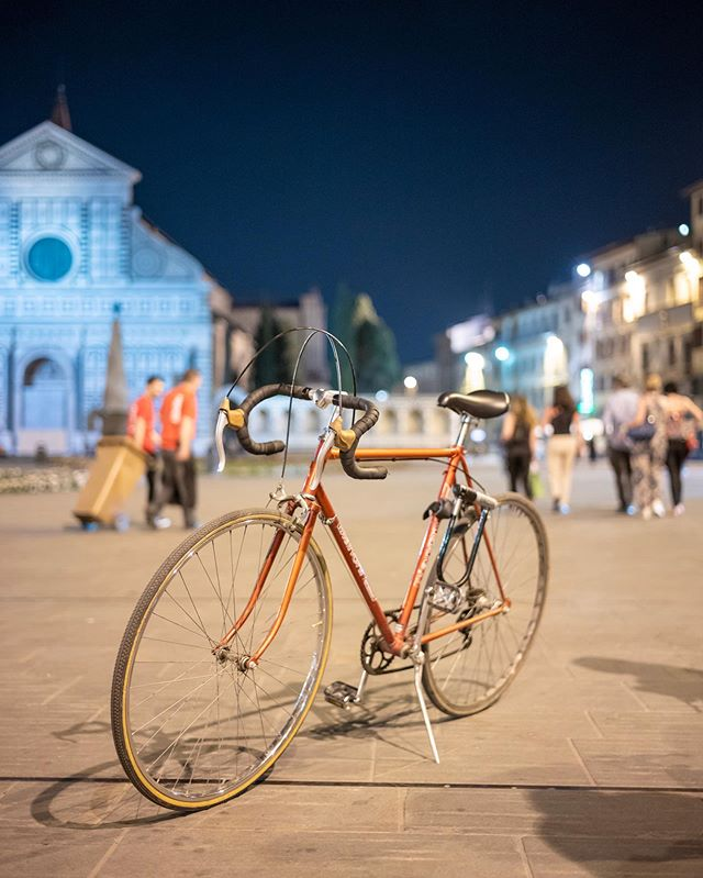 Florence Italy, - the home of cycling 🚴‍♀️ picture: @p_wijk - - #campagnolo #vintagebike #vintageframe #tourdefrance2019 #italy #florence #pittiuomo96 #pitti96 #Leicam10d #summilux35 #summilux35fle #leicastreet #baw #roadslikethese