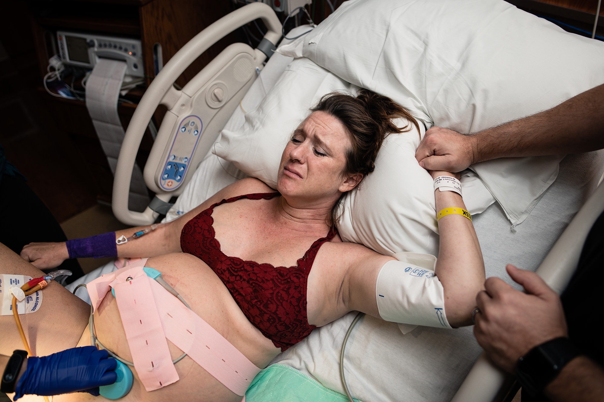 4 emotional mom about to push austin birth photography.jpg