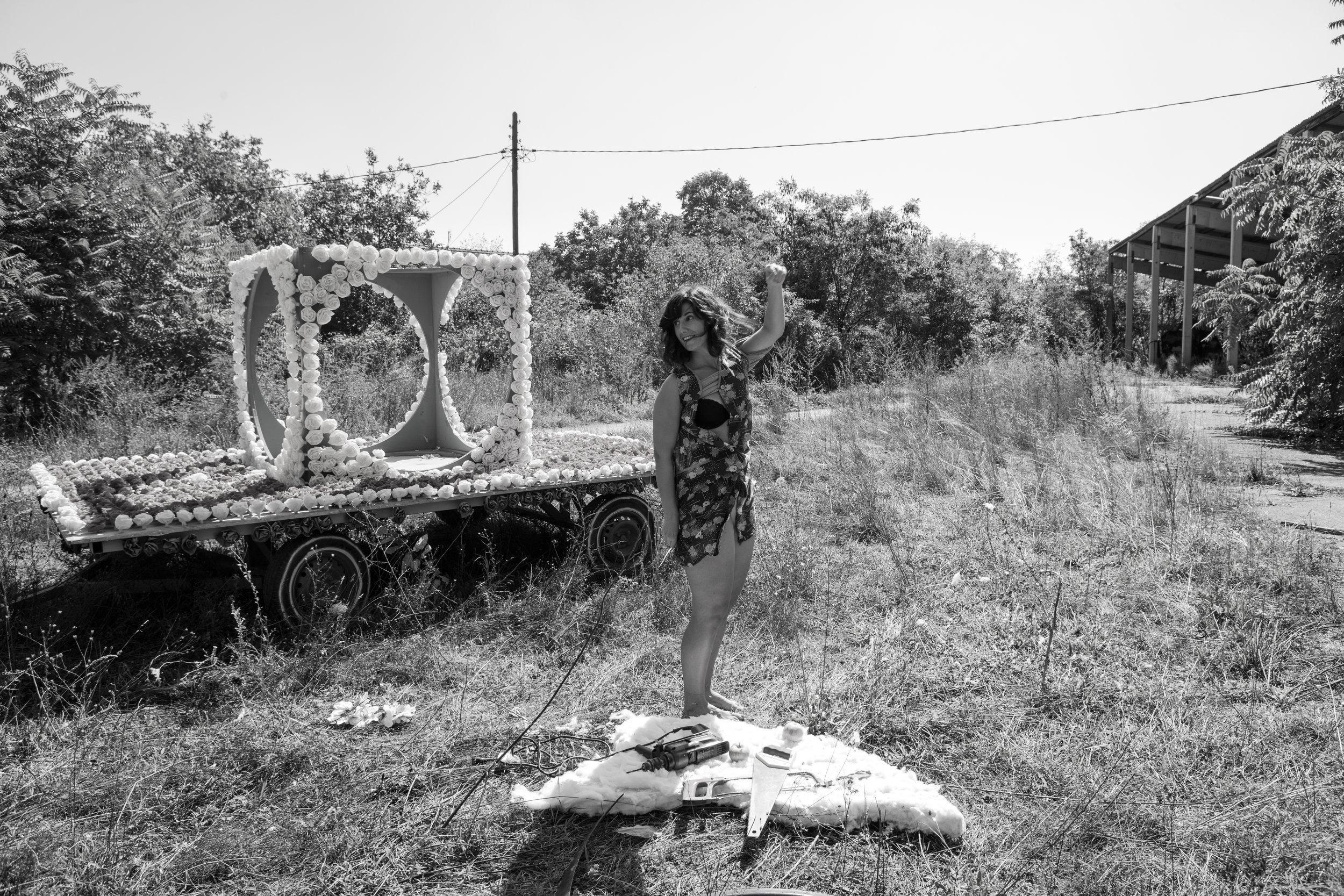Dragana Brankovic while shooting an artistic video at Agora
