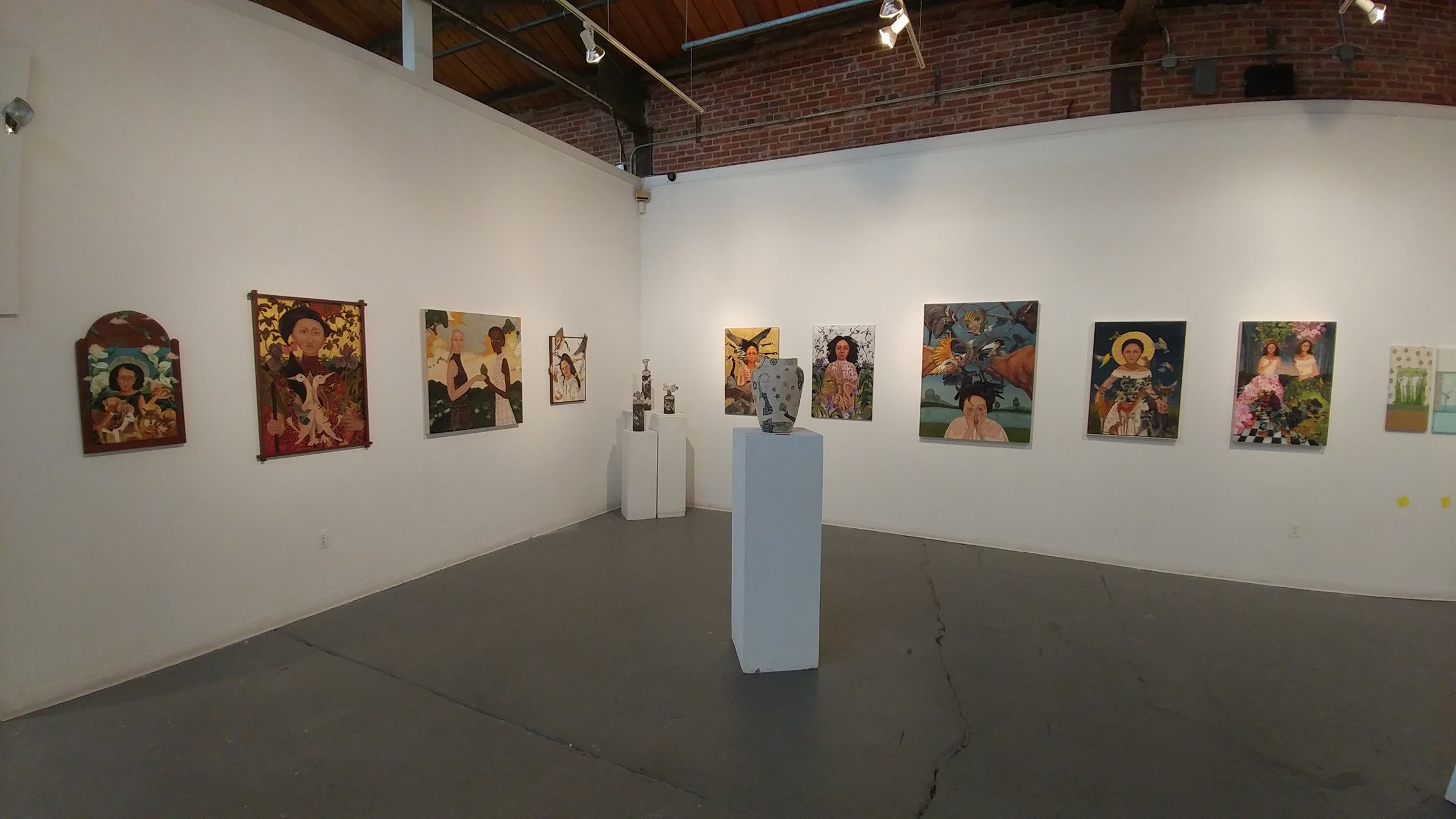 This is my corner of the 4 person show at Artworks Trenton.