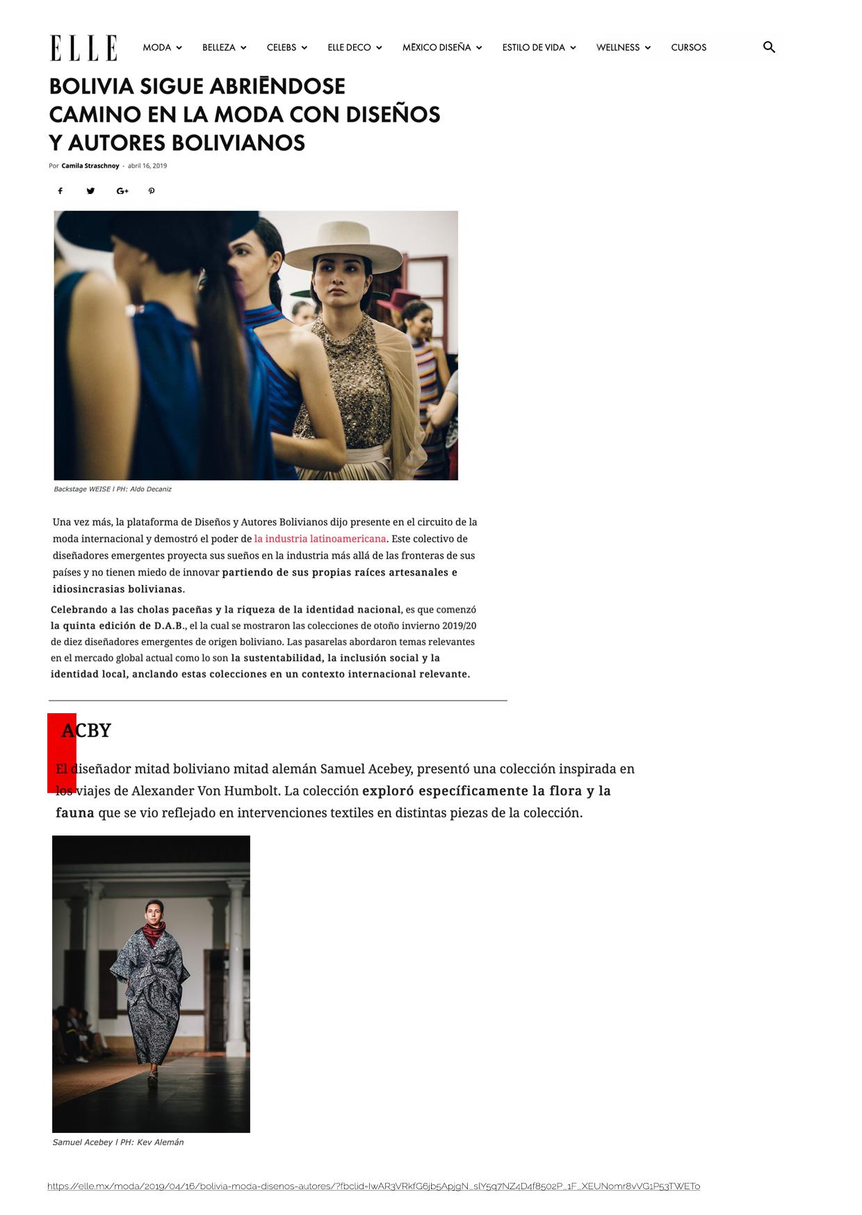 https://elle.mx/moda/2019/04/16/bolivia-moda-disenos-autores/?fbclid=IwAR3VRkfG6jb5ApjgN_slY5q7NZ4D4f8502P_1F_XEUNomr8vVG1P53TWETo